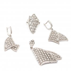 Set din Argint cu Zirconii0