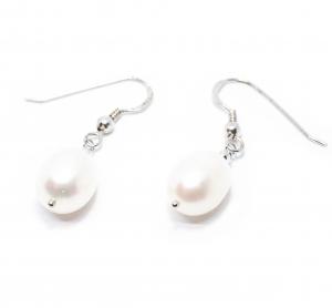Cercei din Argint cu Perle de Cultura0