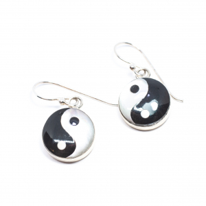 Cercei din Argint cu Yin si Yang0