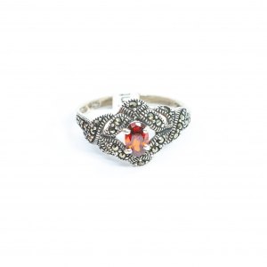 Inel din Argint cu Marcasite și Granat0