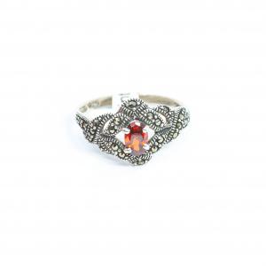 Inel din Argint cu Marcasite și Granat1