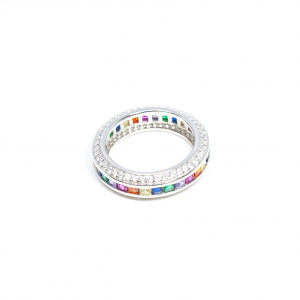 Inel din Argint cu Zirconiu Colorat0