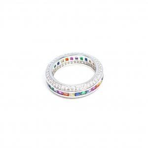 Inel din Argint cu Zirconiu Colorat2