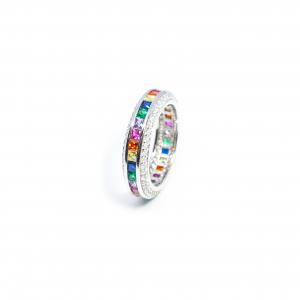 Inel din Argint cu Zirconiu Colorat1