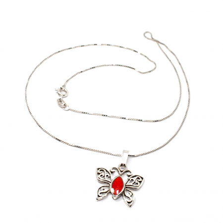 Pandantiv din Argint Fluture cu Email si Lant din Argint [1]