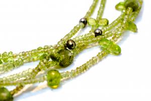 Colier Creație cu Peridot,Perle de Cultura si Argint [2]