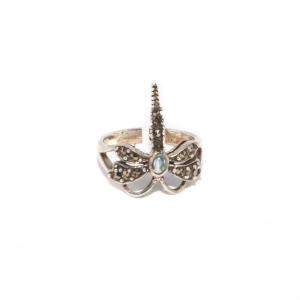Inel din Argint Libelulă cu Marcasite si Rubin [1]