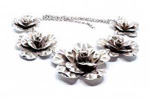Lant din Argint cu Flori1