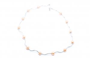 Lant Creatie Perle si Baghete de Argint [2]