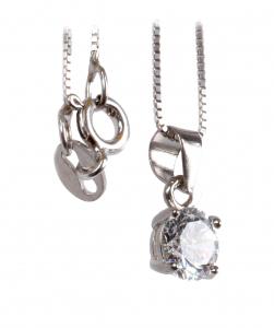 Lanţ din Argint cu Pandantiv Zirconiu1