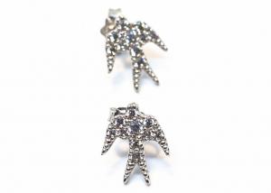 Cercei din Argint Randunica cu Zirconii0