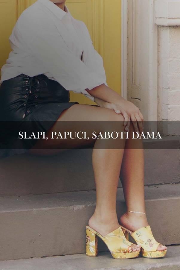 Slapi, papuci, saboti dama second hand