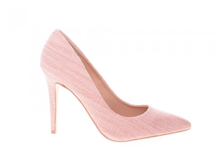 Pantofi stiletto dama, roz 0