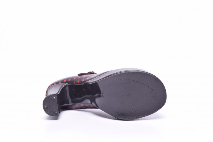 Pantofi dama cu buline rosii 1
