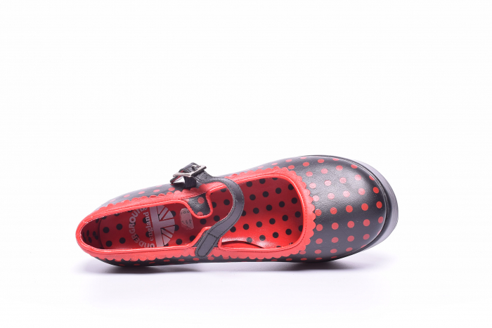 Pantofi dama cu buline rosii 5