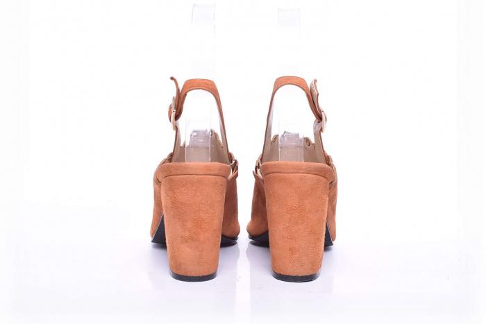 Sandale dama cu toc gros 4