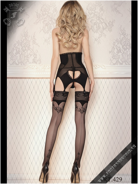 BAL429 Lilith seamed hold ups (stockings) 1