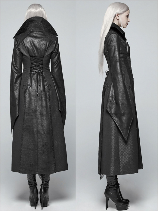 Black Dragonfly coat WY-984/BK Punk Rave 1