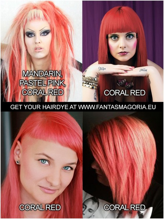 Coloring hair balsam - Coral Red 1
