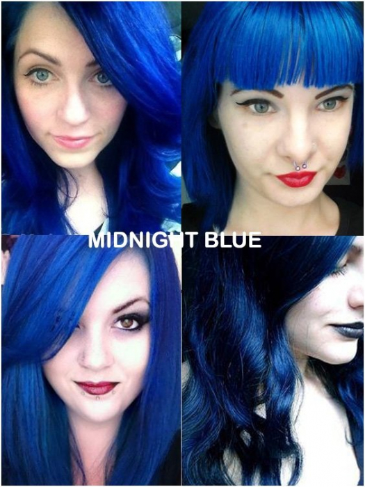 Coloring hair balsam - Midnight blue 1