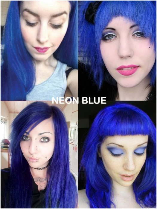 Coloring hair balsam - Neon blue 1