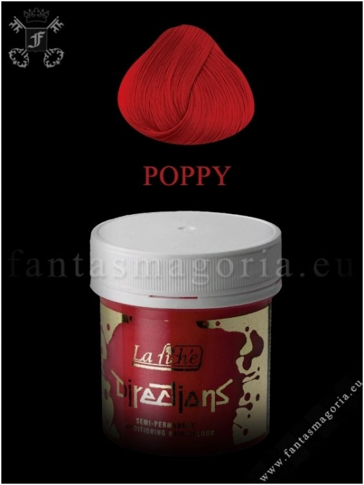 Coloring hair balsam - Poppy red 0