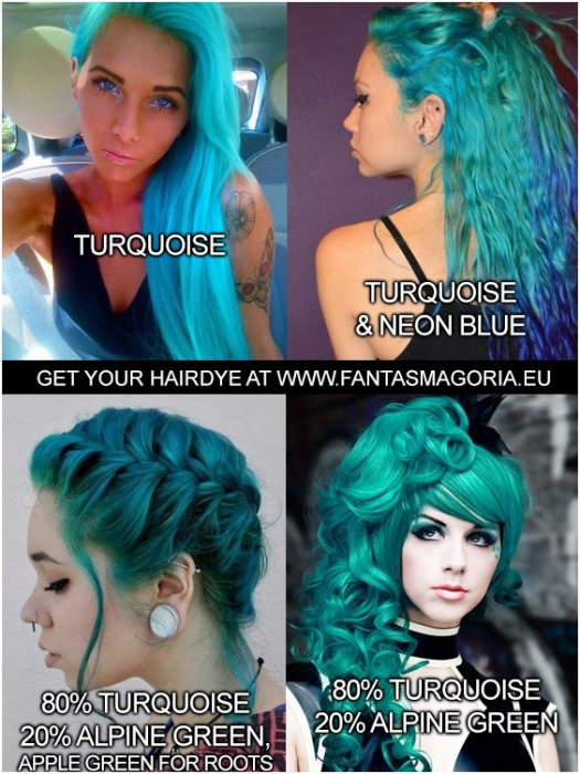 Coloring hair balsam - Turquoise 1