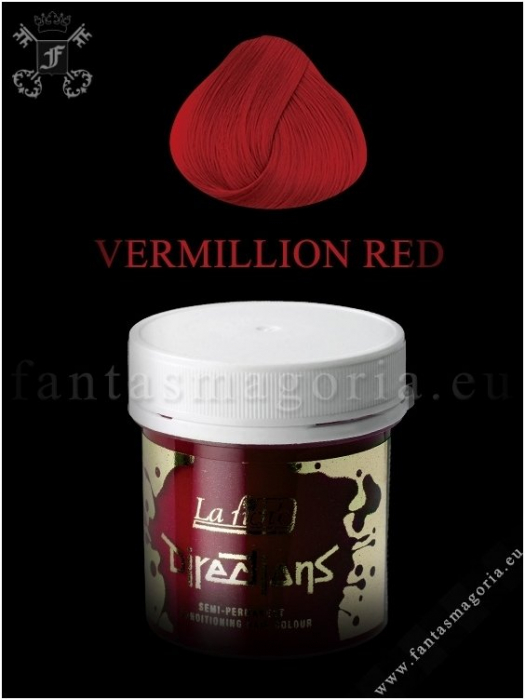 Coloring hair balsam - Vermilion red 0
