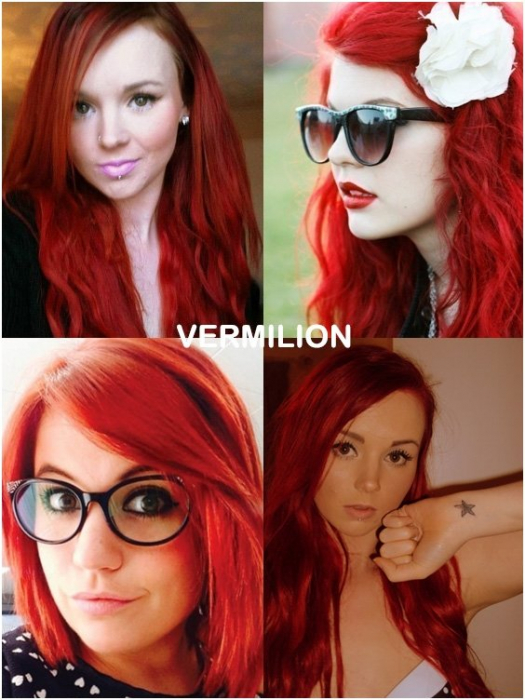 Coloring hair balsam - Vermilion red 1
