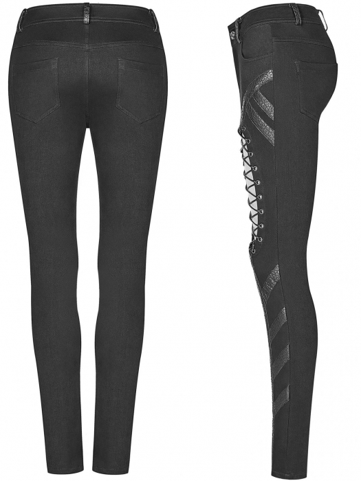 Extraterrestrial invasion trousers WK-346/BK Punk Rave 2