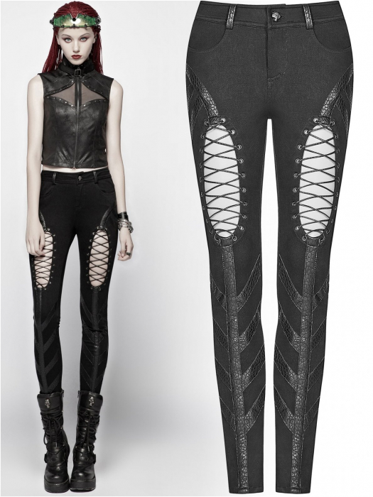 Extraterrestrial invasion trousers WK-346/BK Punk Rave 0