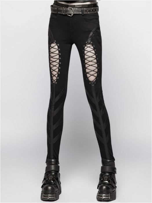 Extraterrestrial invasion trousers WK-346/BK Punk Rave 1