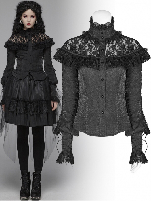 Gothic Butterfly shirt WLY-088-BK Punk Rave 0