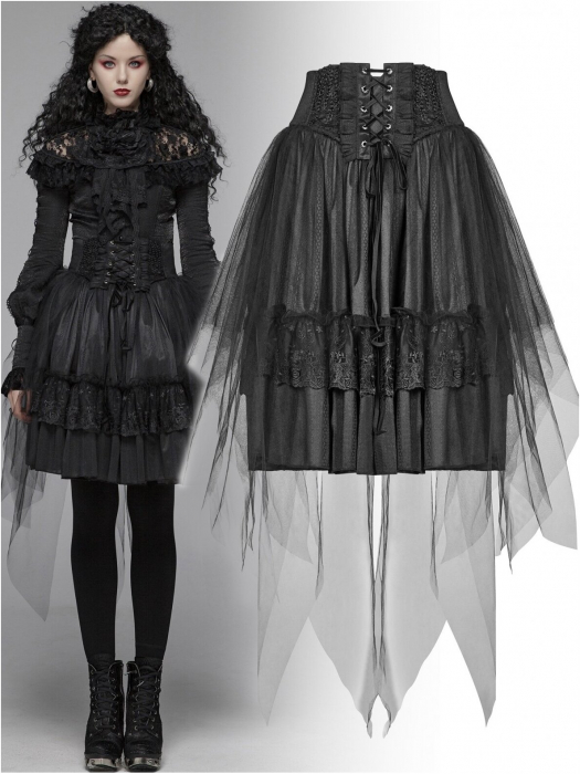 Gothic Butterfly skirt WLQ-091-BK Punk Rave 0