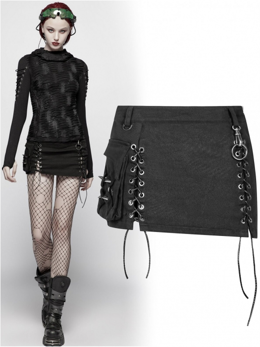 Gothic Trooper skirt WQ-400/BK Punk Rave 0