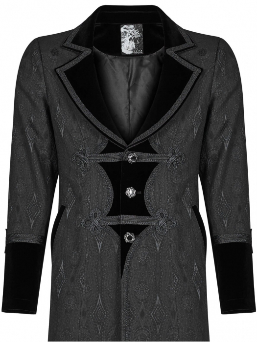 Grimm black jacket Punk Rave men's WY-1010-BK 2