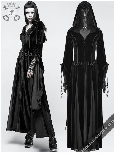 Lady De La Morte coat Y-797BK Punk Rave 0