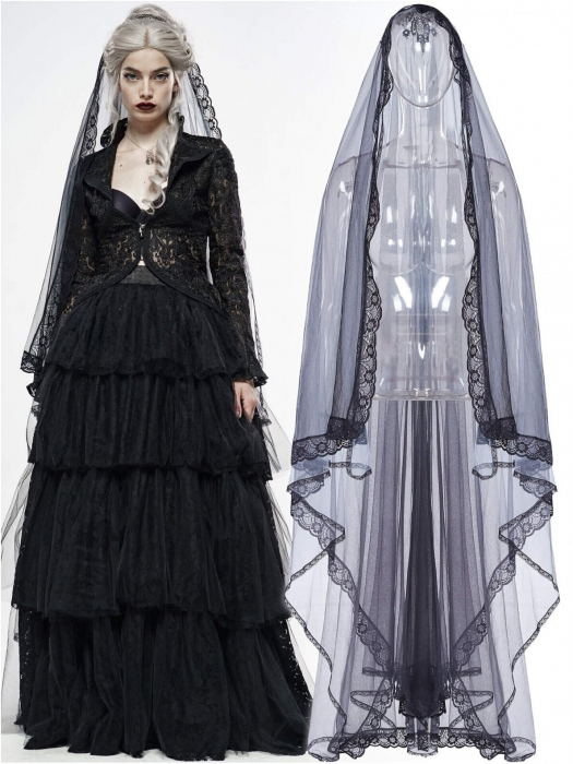 Lilith mourning veil WS-330/BK-GY Punk Rave 0