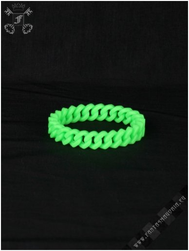 Lime green silicone chain wristband 0