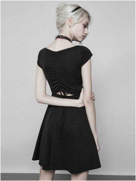 Little Black Swan dress OPQ-360/BK Punk Rave 2
