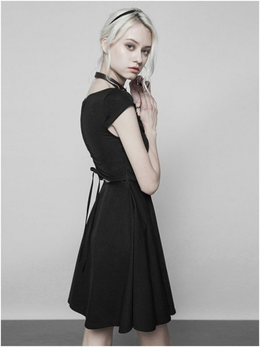 Little Black Swan dress OPQ-360/BK Punk Rave 1
