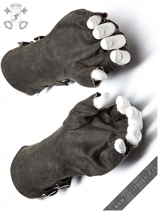 Mad Max grey gloves (PAIR) WS-252/GY Punk Rave 1