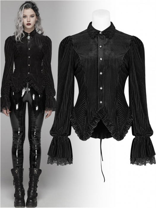 Maeve black shirt WY-1041-BK Punk Rave 0