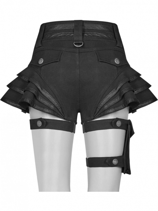 Maeve black shorts WK-373-BK Punk Rave 2