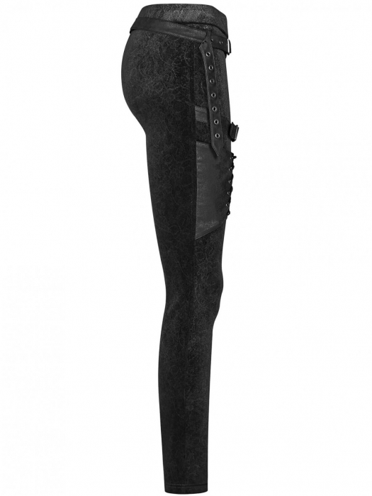 Maeve black trousers WK-374-BK Punk Rave 1