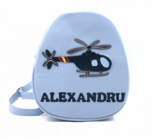 Rucsac din piele naturala elicopter 0