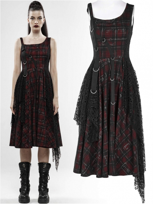 Misanthrope black/red dress WQ-457/BK-RD Punk Rave 0