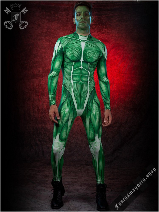 Muscle Man Zombie bodysuit costume BAD-BS-9 0
