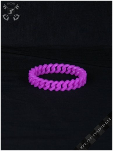Purple silicone chain wristband 0