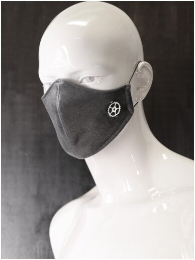 QuickSilver Grey velvet neoprene face mask 0